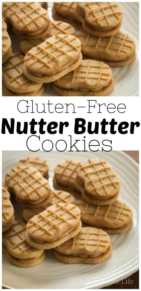 A nutter butter cookie or two was a favorite from my childhood so I am thrilled to share this nutter butter cookie recipe with you! | homemade nutter butter cookies | easy cookie recipes | homemade cookie recipes | gluten free cookie recipes | gluten free nutter butter recipe | gluten free dessert recipes | homemade gluten free cookies || This Vivacious Life #recipe #cookies #nutterbutter #glutenfree #glutenfreecookies #gfdesserts #gfrecipes #thisvivaciouslife