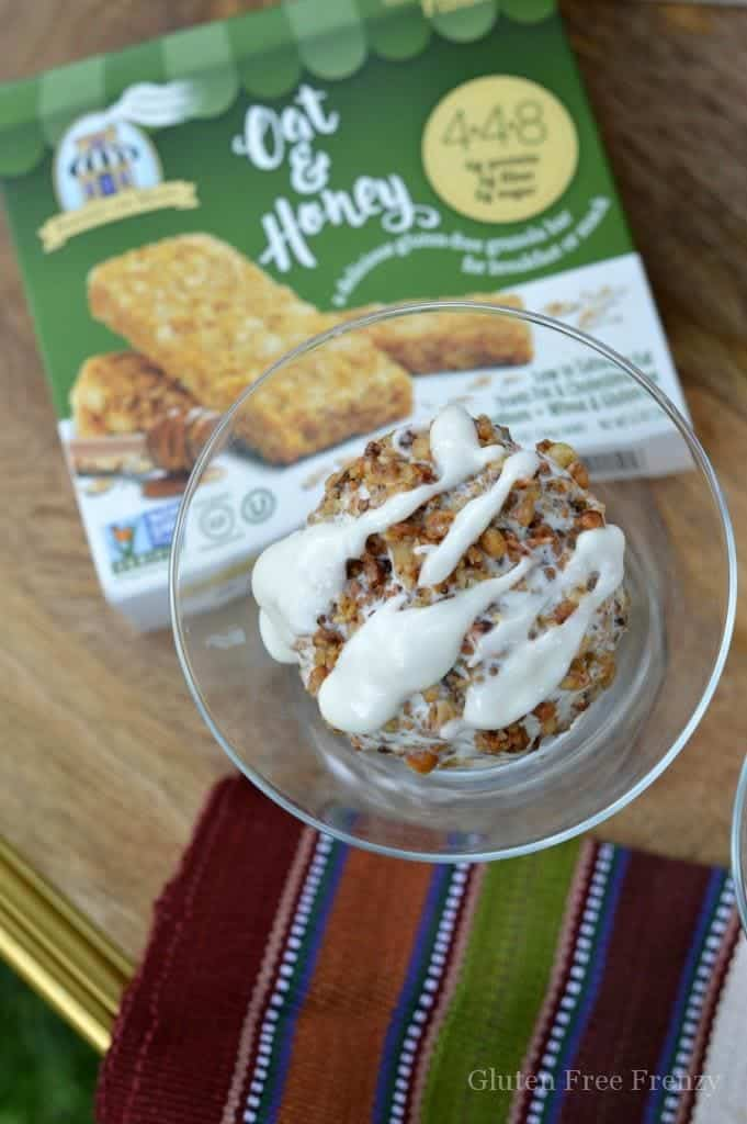 Yummy, this granola bar fried ice cream is a healthy take on a delicious classic. The whole family will love it!