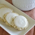 "Oh my goodness you guys, these copycat Swig sugar cookies are so delicious that nobody would ever know they are gluten-free! The sour cream frosting is the delicious ""cherry"" on top...yummy! glutenfreefrenzy.com"