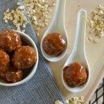 Oh yum! Saucy and smoky chipotle & peach meatballs are made healthier with muesli instead of breadcrumbs. This also makes them gluten-free but nobody would ever know! glutenfreefrenzy.com