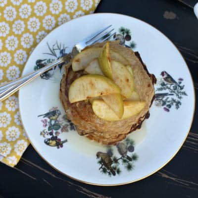 Gluten-Free Oatmeal Pancakes w/ Buttermilk Syrup