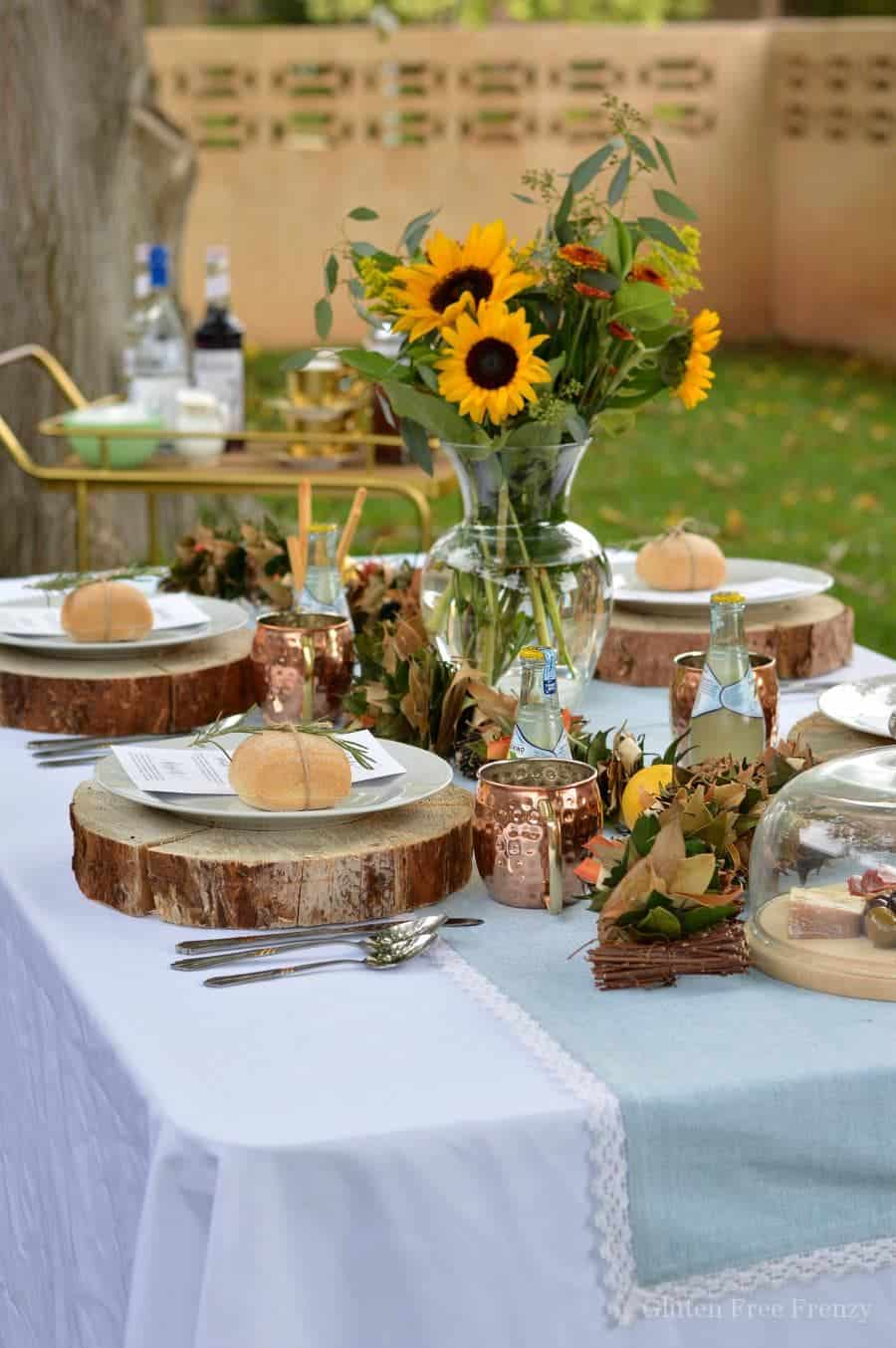 Rustic italian dinner party and gluten free tiramisu for Italian party