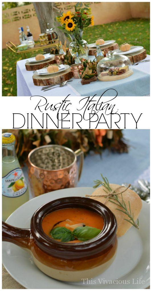 Gluten-Free tiramisu and rustic Italian dinner party. It's full of delicious food like breaded chicken, pasta and Italian s'mores dip. Get all the details from menu to recipes and decor.