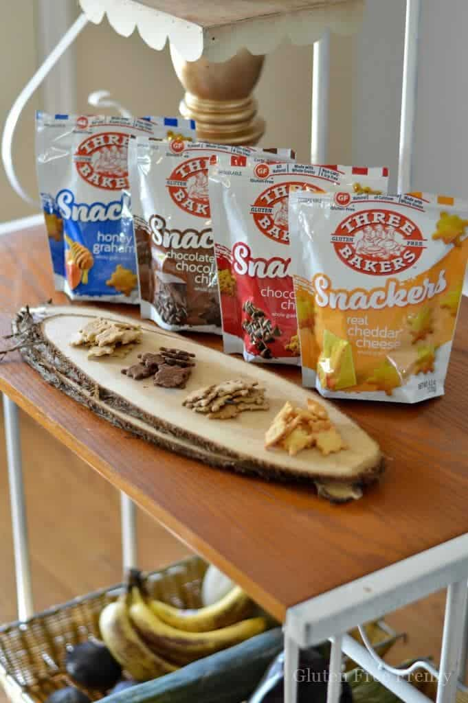 ... snacks. Three Bakers Snackers gluten-free crackers definitely fit the