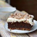 This salted caramel chocolate lasagna is gluten-free and an oh-so-decadent dessert the whole family will love! It is surprisingly easy to make and is full of rich chocolate. glutenfreefrenzy.com