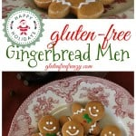 These gluten-free gingerbread men help you get into the holiday spirit with flavors like nutmeg and molasses. These fragrant little cookies are a family favorite that also work perfectly for Santa's cookies before Christmas. glutenfreefrenzy.com