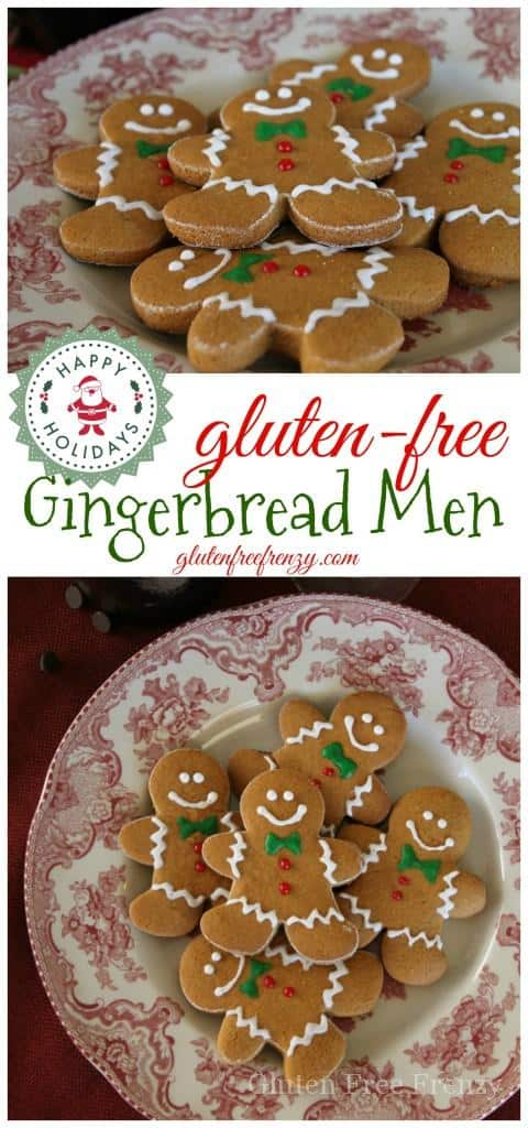 These gluten-free gingerbread men help you get into the holiday spirit with flavors like nutmeg and molasses. These fragrant little cookies are a family favorite that also work perfectly for Santa's cookies before Christmas.| gluten free gingerbread recipes | gluten free Christmas cookies | gluten free cookie recipes | gluten free holiday treats || This Vivacious Life #gingerbreadmen #glutenfreeChristmas