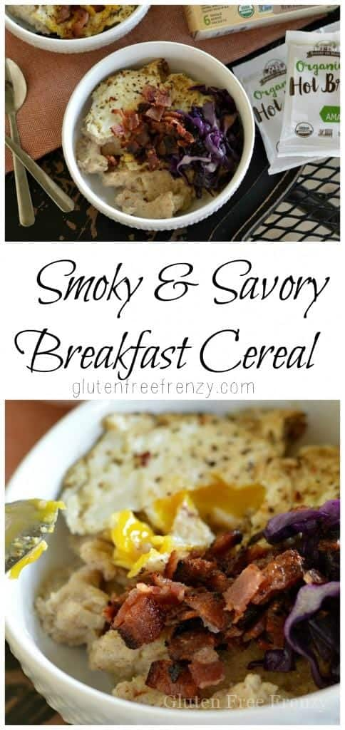 These savory breakfast cereal bowls are full of flavor and nutrients. The smoky flavor of the bacon really takes this breakfast dish to the next level. | gluten-free breakfast recipes | gluten-free breakfast bowl | gluten-free recipe ideas | homemade gluten-free recipes | gluten-free meals || This Vivacious Life