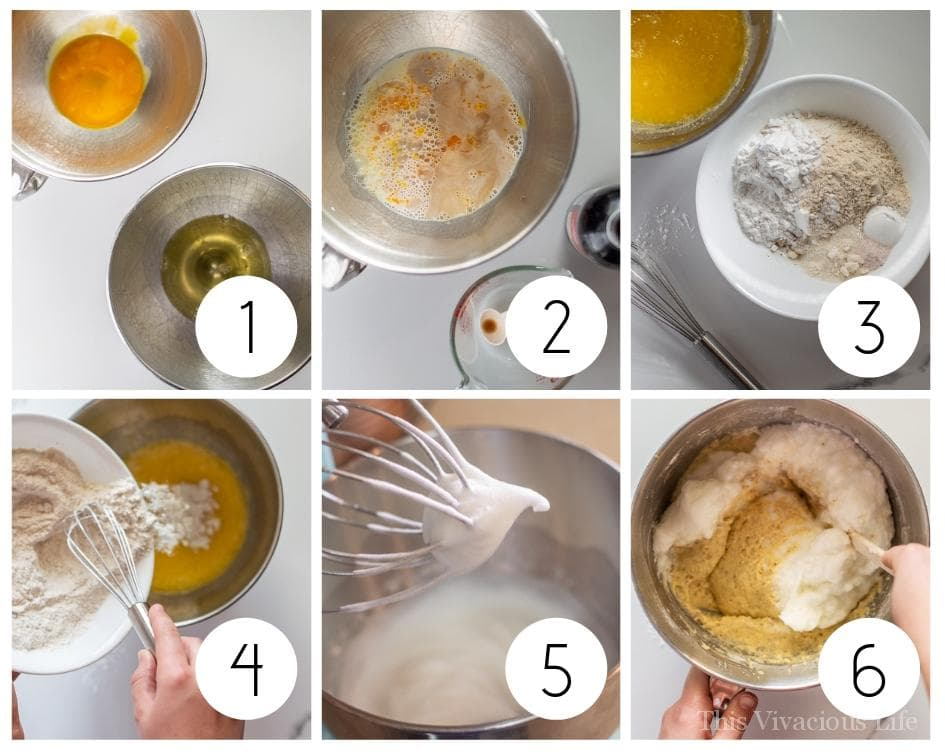 Step by step instructions to make gluten-free waffles