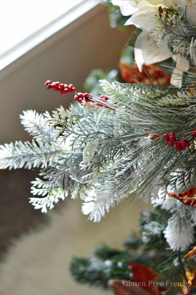 This drab to fab Christmas tree is an easy DIY on a budget. Don't throw out that old Christmas tree, we can show you how to turn it into a gorgeous new display. | diy Christmas tree | how to decorate an old Christmas tree | holiday decorating tips | holiday tree decorating | Christmas tree decor tips || This Vivacious Life #christmastree #diychristmastree