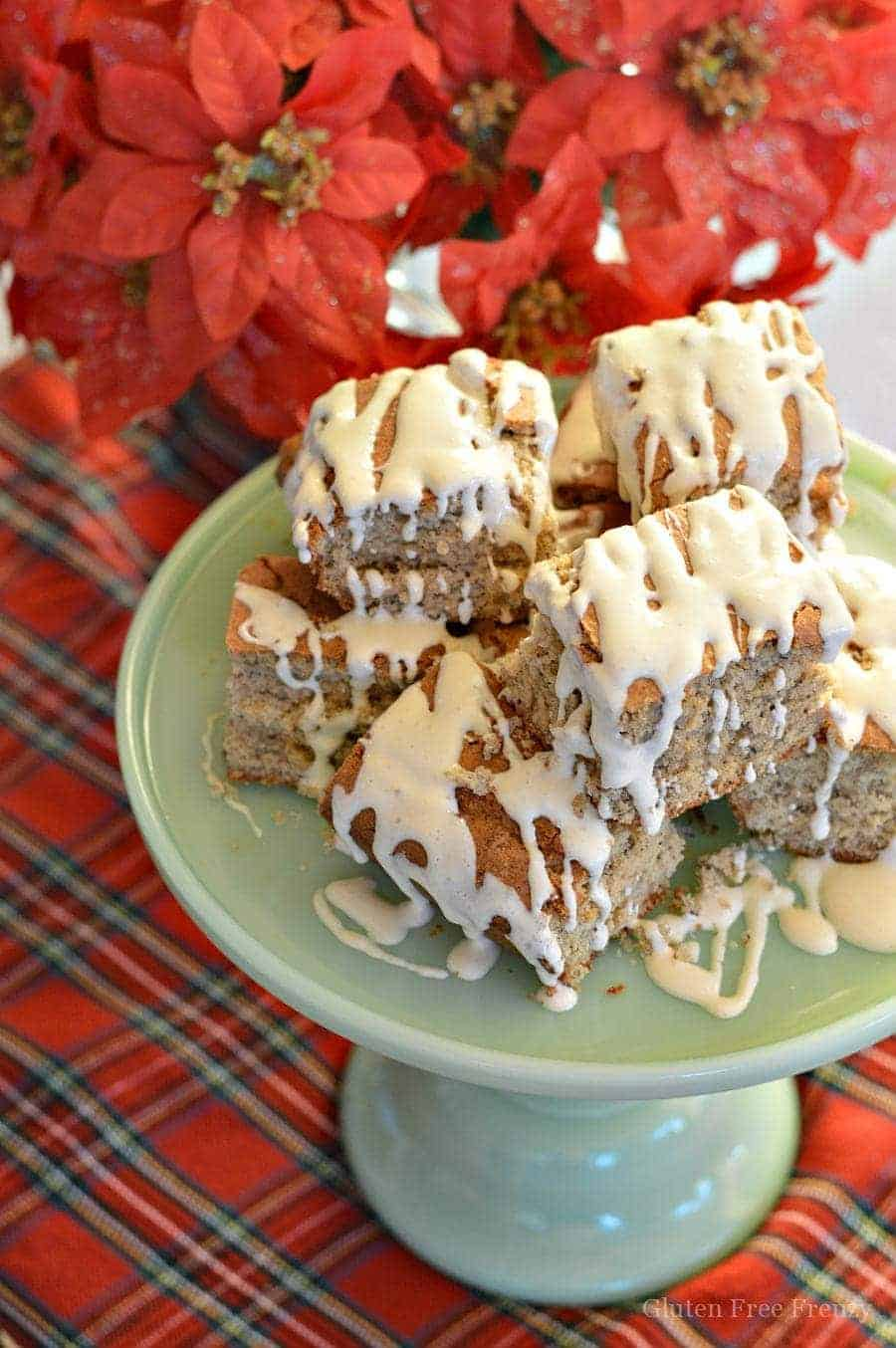 This gluten-free eggnog cake recipe will bring your taste buds alive this holiday season. This easy and delicious dessert is perfect for serving at your next Christmas party.