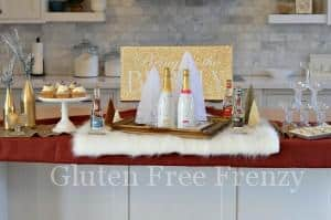 Glam New Year's Eve Party & Sparkling Cranberry Cupcakes