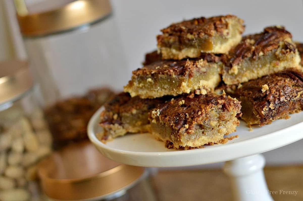 Gluten-Free Pecan Pie Shortbread Bars