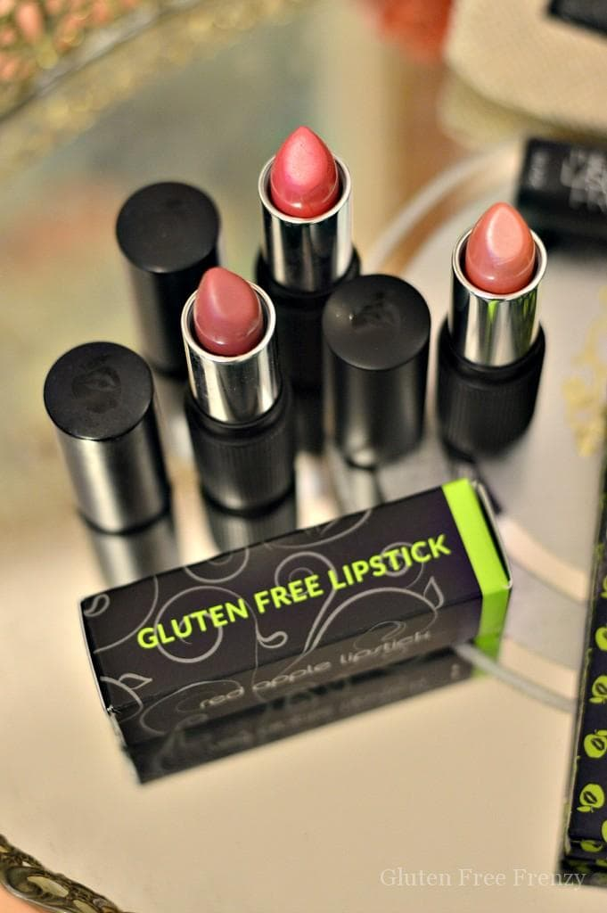 Gluten-free Red Apple Lipstick is cruelty free, vegan and oh so glamorous. This makeup is excellent if you like to live green but also want bold color.