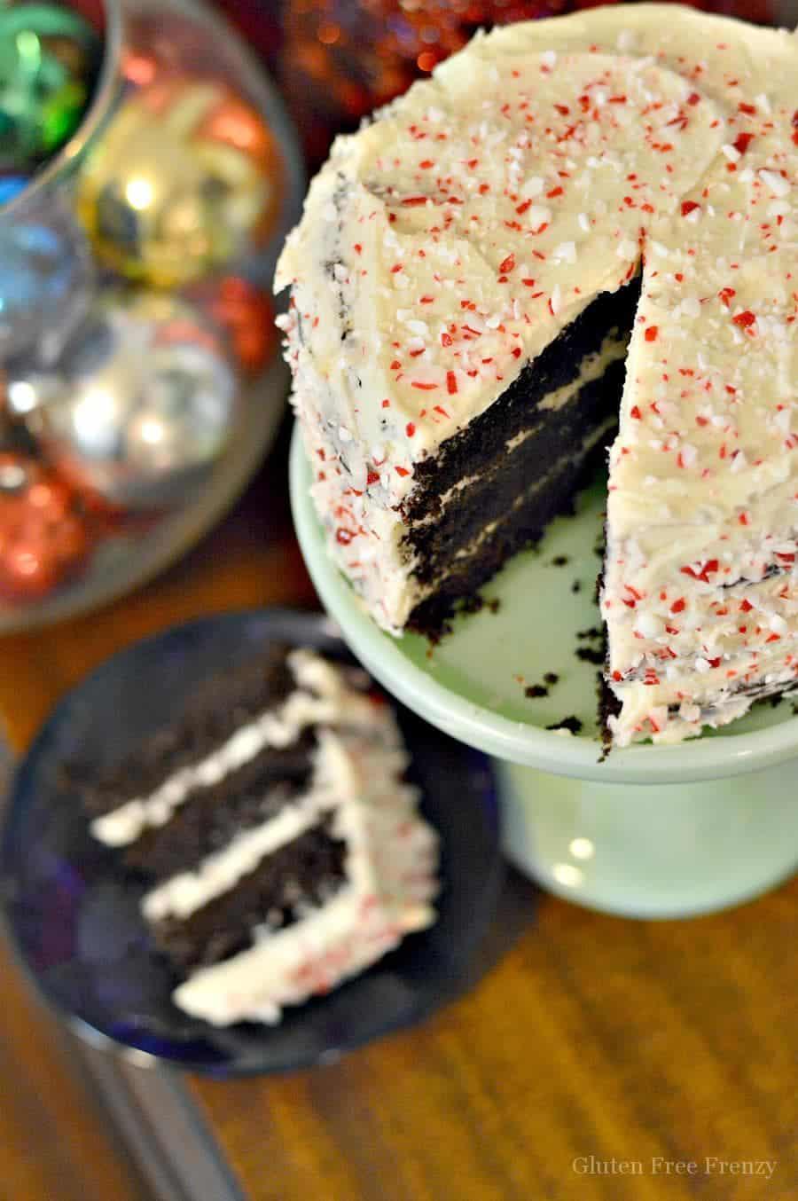 Paleo Peppermint Chocolate Cake