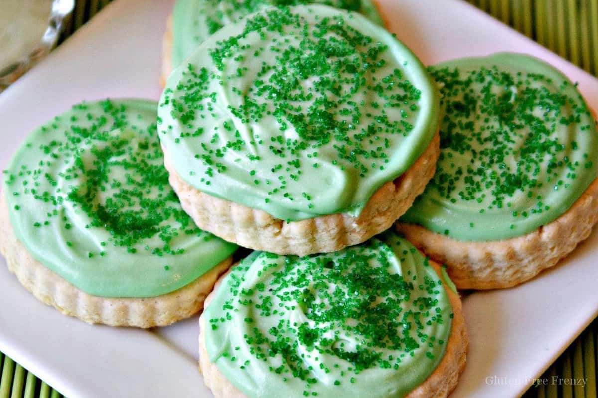 Gluten-Free Soft Frosted Sugar Cookies