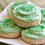 Our gluten-free soft frosted sugar cookies are the best! They are chewy, perfectly sweet and topped with the best cream cheese frosting.