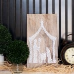 Every String Attached stringart is the best around. They have simple DIY pieces like this nativity as well as gorgeous more intricate pieces.