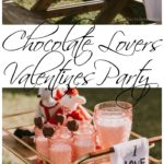 This chocolate lovers Valentines party is so easy to recreate and will be the most delicious celebration you have ever attended. The chocolate strawberry heart cakes are the, well, icing on the cake!