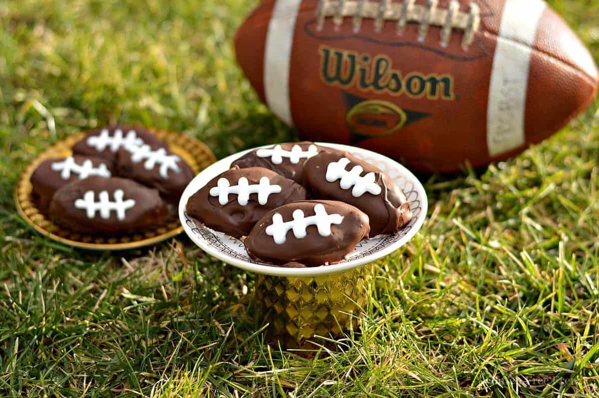 Gluten-Free Cookie Dough Footballs
