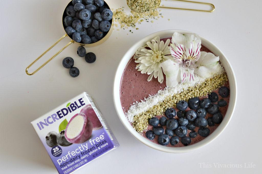 This blueberry heart smart smoothie bowl is as delicious as it is beautiful. The best part is that it can be made in under 15 minutes for snack or breakfast.