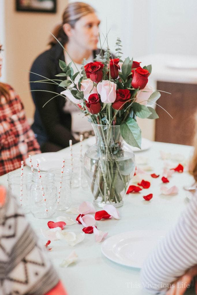 This Galentines day favorite things party is full of festive Valentines day fun! It's the perfect girls night in. | Galentine's Day party ideas | fun Valentine's Day parties for adults | ladies Valentine's Day party | favorite things party ideas | Galentine's Day gifts || This Vivacious Life #galentinesday #favoritethingsparty #valentinesdayparty