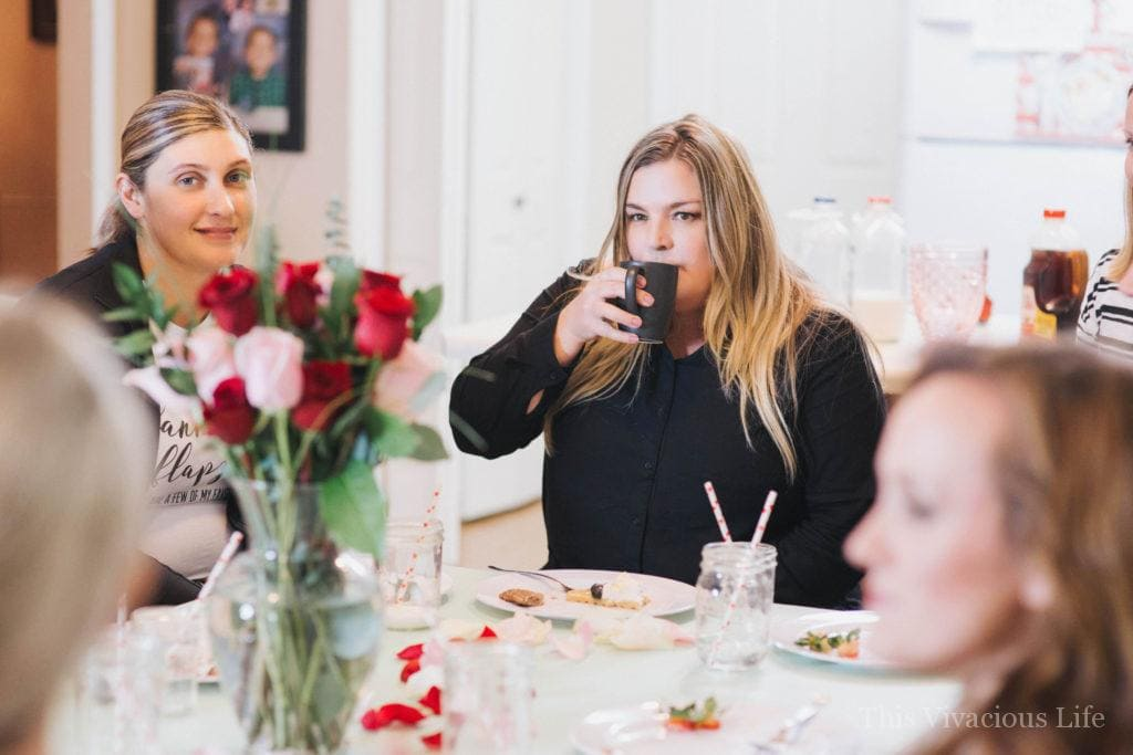 This Galentines day favorite things party is full of festive Valentines day fun! It's the perfect girls night in.