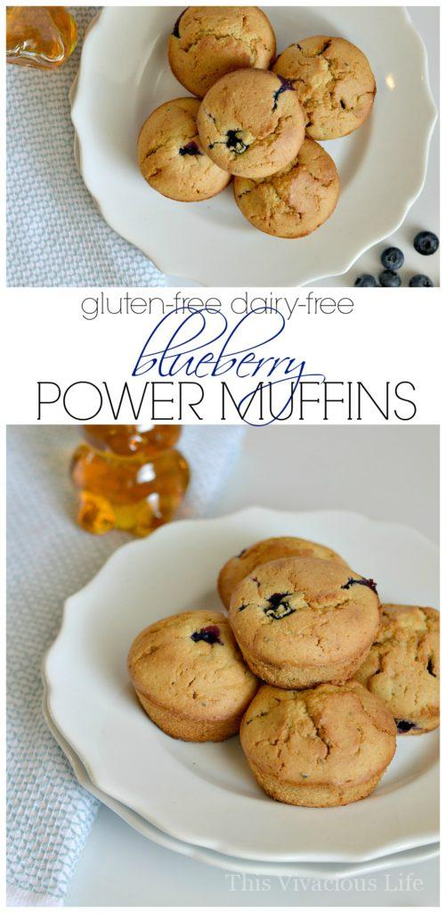 gluten-free dairy-free blueberry muffins | gluten-free muffin recipes | gluten-free breakfast recipes | dairy-free muffin recipes | dairy-free breakfast recipes || This Vivacious Life #glutenfreemuffins #dairyfreemuffins #glutenfreebreakfast