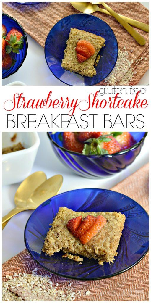 These gluten-free strawberry breakfast bars are so delectable you will want to eat the entire pan! | gluten free breakfast recipes | gluten free breakfast bars | gluten free recipes | homemade gluten free recipes | easy gluten free recipes || This Vivacious Life #recipes #breakfast #glutenfree #breakfastbars #strawberries #healthyrecipe