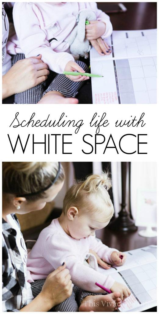 Scheduling life with white space can be a challenge but we show you how to let go and let be. For any mom, business owner or blogger, this is a must read!