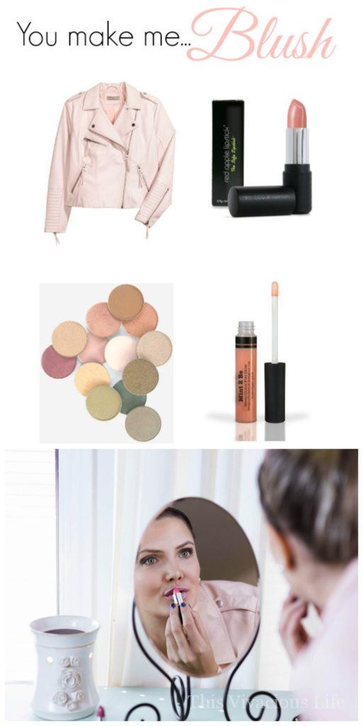 Blush makeup for moms is a great way to create a feminine and modern touch to everyday makeup. This trend is hot right now and busy moms should benefit as well.