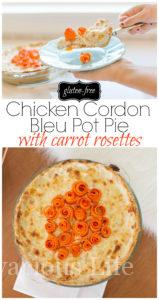 This chicken cordon bleu pot pie is creamy, delicious and nobody would ever know it is gluten-free. This makes an excellent Easter dinner or Sunday recipe.