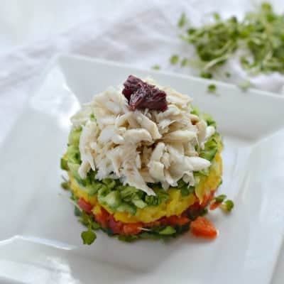 Crab Stack with Blood Orange Vinaigrette