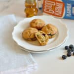 These gluten-free dairy-free blueberry power muffins are the perfect breakfast to fill your belly with good nutrition and give you the energy to make it through the day. They are delicious and super soft.