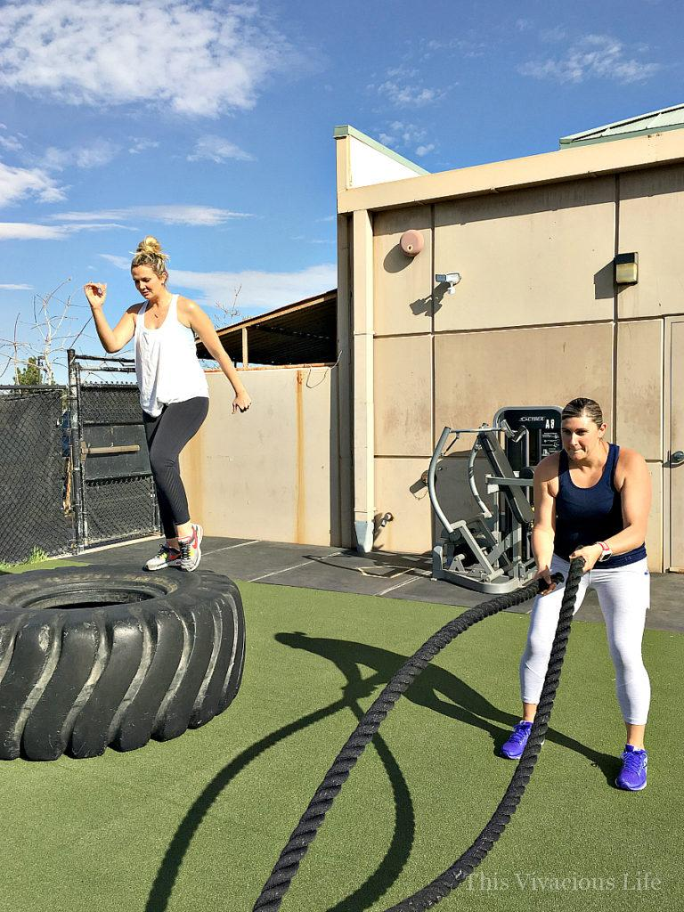 Our mom buddy fitness challenge is a great way to get back in shape as a busy mom. | fitness challenge for moms | mom friendly fitness challenge | fitness challenge ideas | self care for moms || This Vivacious Life #fitnesschallenge #momfitness #fitmoms
