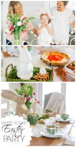 This white house Easter party is bright and full or Springtime cheer. Everyone will love the gluten-free dishes served as well as the beautiful decor.