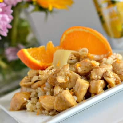 Gluten-Free Sticky Orange Ginger Chicken with Coconut Rice