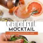 Grapefruit Mocktail with Honey and Rosemary pin