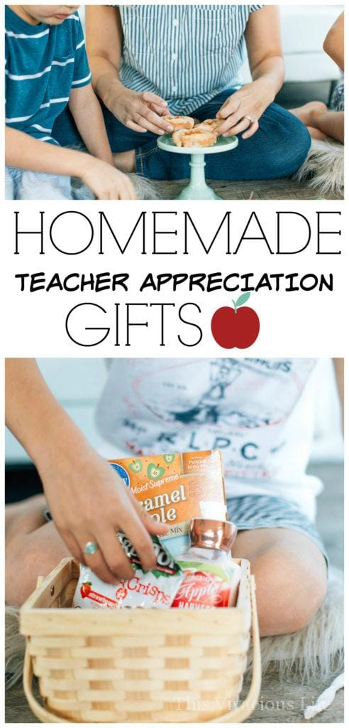 These homemade teacher appreciation gifts are simple and so sweet. Any teacher would be happy to receive them during teacher appreciation week.