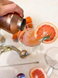 Grapefruit Mocktail being poured