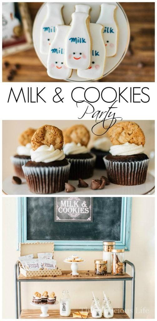 This cookies and milk party is one that everyone will love! Whether you do it for a birthday or another fun celebration, it is sure to be a hit! Get all the decor, food and party ideas here. || This Vivacious Life #milkandcookies #partyideas #cookieparties