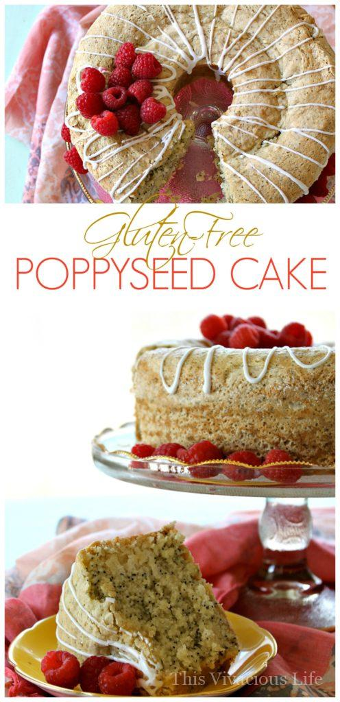This gluten-free poppyseed cake is so addictive and delicious that everyone will be coming back for more! It is made from scratch and is a dessert that you will treasure for years to come.