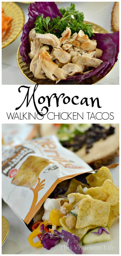 These Moroccan walking chicken tacos are full of bold Indian flavors with all the familiarity of a classic American dish. The cleanup is easy as can be and it is a great dinner for a crowd.