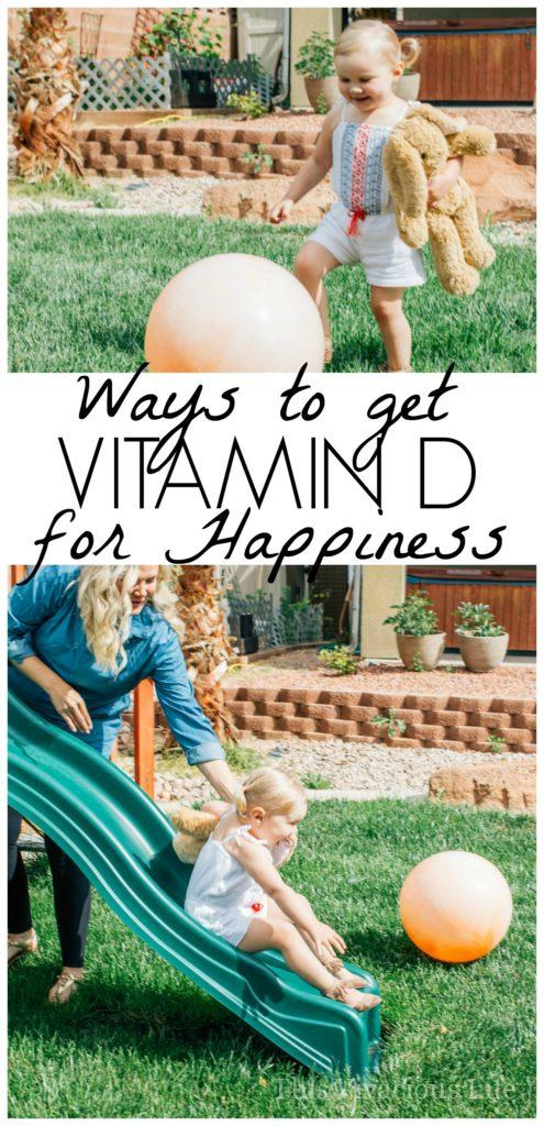 Vitamin D for happiness is a free and easy way to boost your mood. It definitely helps especially post partum, at least I know it did for me.