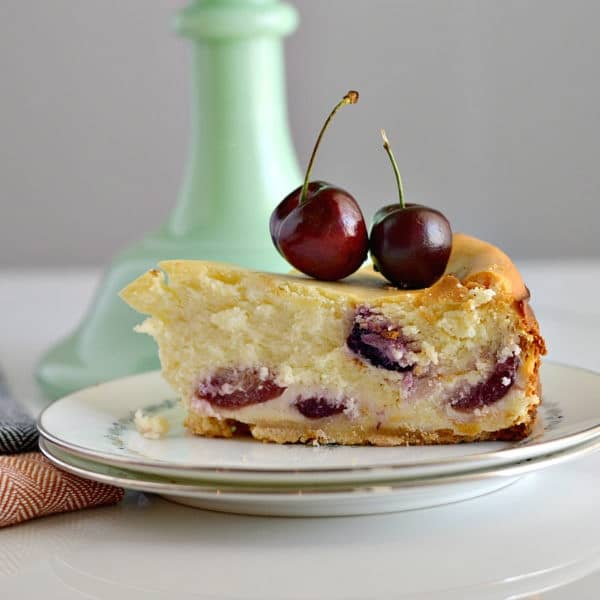 Gluten-Free Almond Cherry Cheesecake