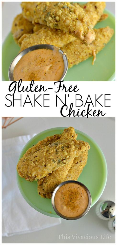 Gluten-free shake n' bake chicken is delicious and super easy to make. It is an excellent dinner especially on weeknights when you are in a rush.