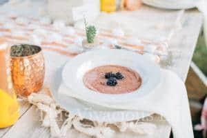 Desert Succulent Dinner Party & Blackberry Gazpacho