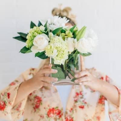 Simple White Flower Arrangements Under $15