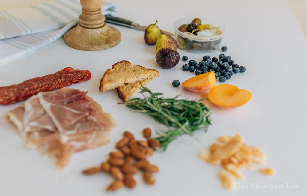 Gluten-Free Charcuterie and Cheeseboard Perfect for Entertaining   gluten free entertaining tips   how to entertain gluten free   gluten free appetizer ideas   gluten free charcuterie tips   how to create gluten free charcuterie   gluten free cheeseboard   gluten free snack recipes    This Vivacious Life