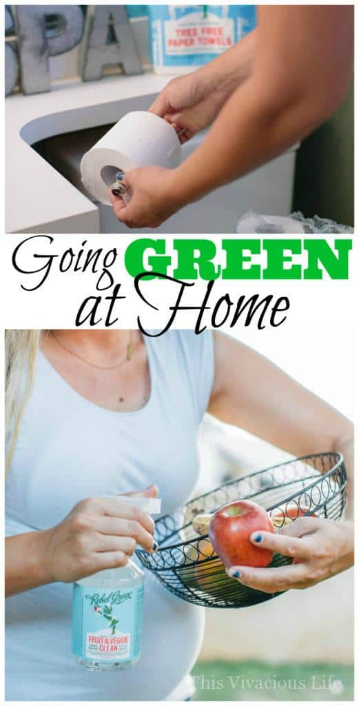 Learn the basics for how to go green at home. Remember, small steps make a big difference. | green cleaning tips | healthy cleaning tips | cleaning tips green | easy cleaning tips | going green in your cleaning routine || This Vivacious Life